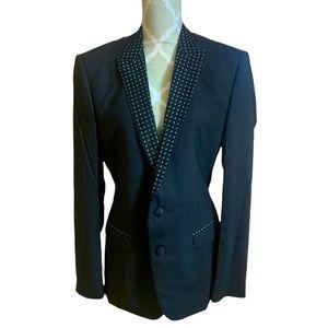 Dolce & Gabbana Printed Lapel Structured Blazer